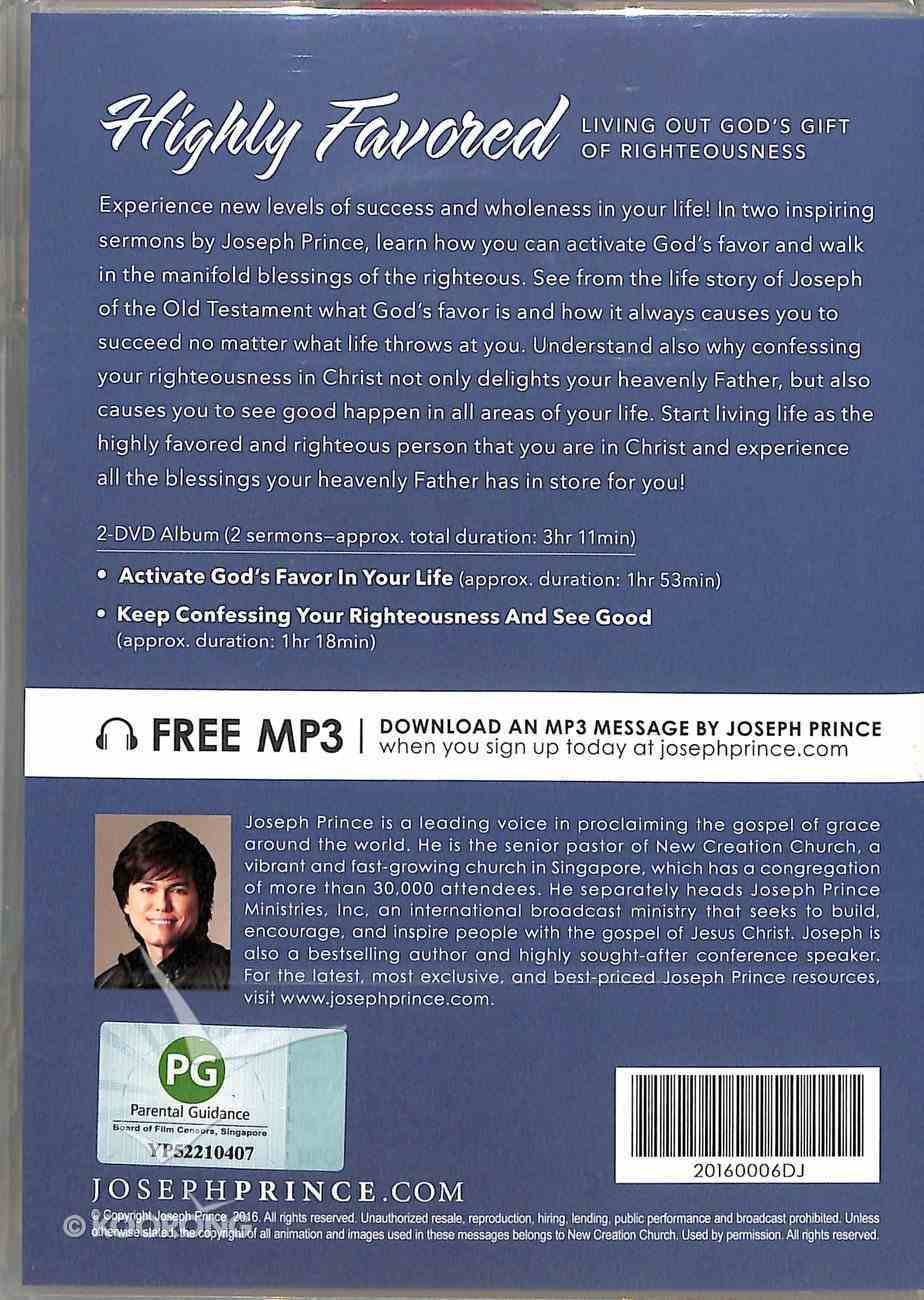 Highly Favored: Living Out God's Gift of Righteousness (2 Dvd) DVD