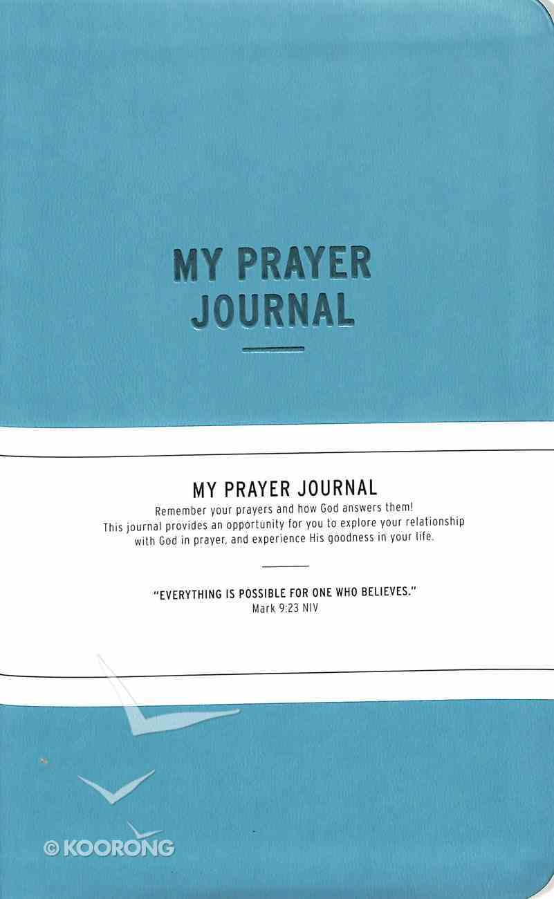 Prayer Journal: My Prayer Journal, Teal Paperback