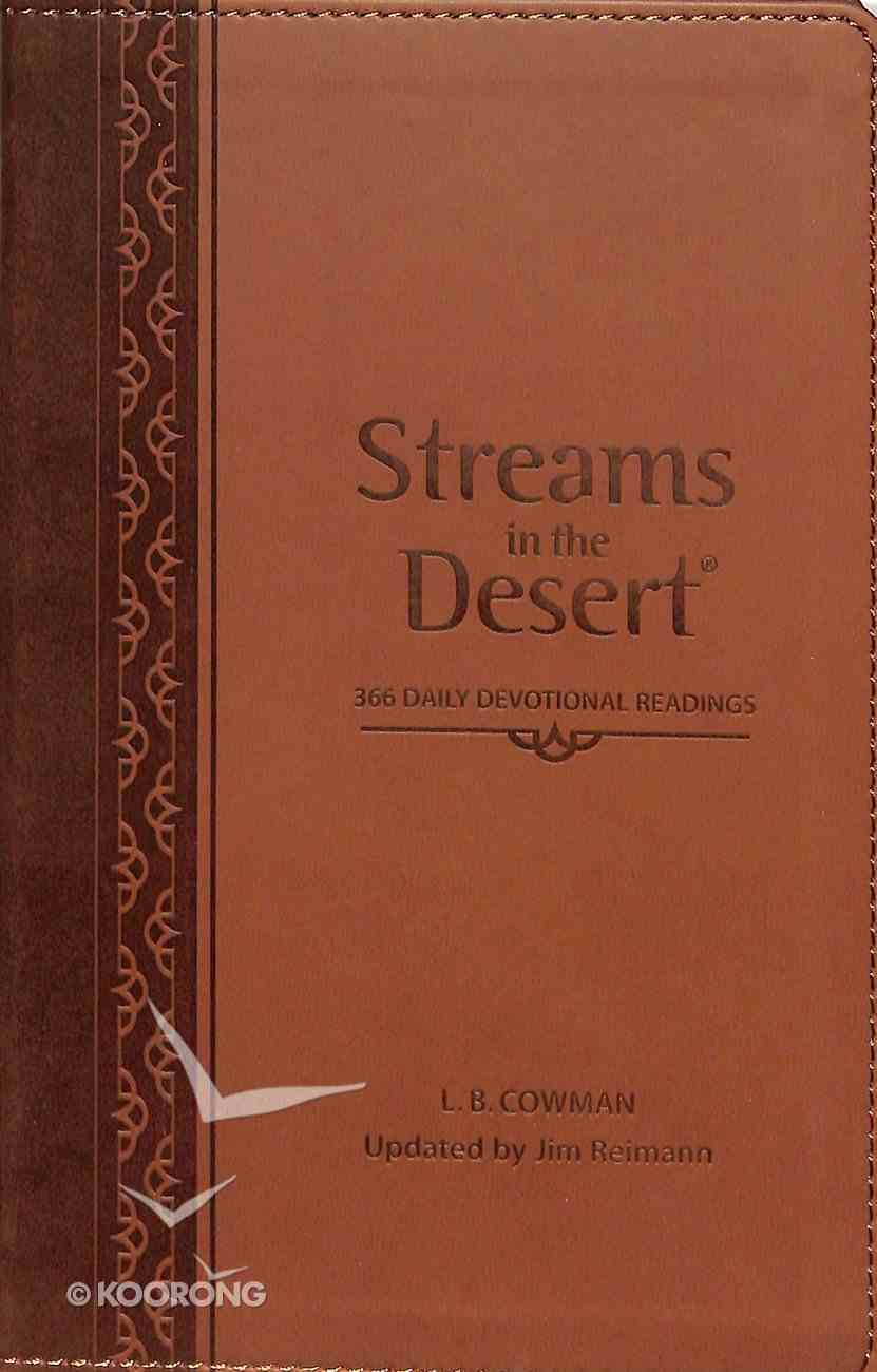 Streams in the Desert: 366 Daily Devotional Readings Imitation Leather