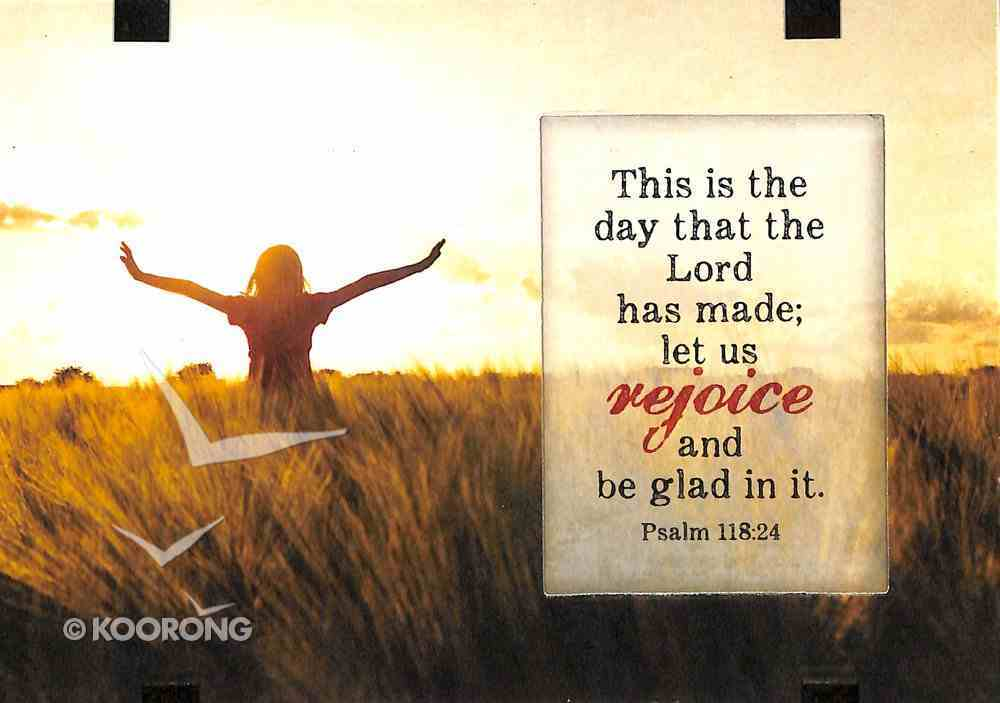 Windows Easeled Glass Plaque: This is the Day the Lord Has Made.. (Psalm 118:24) Plaque