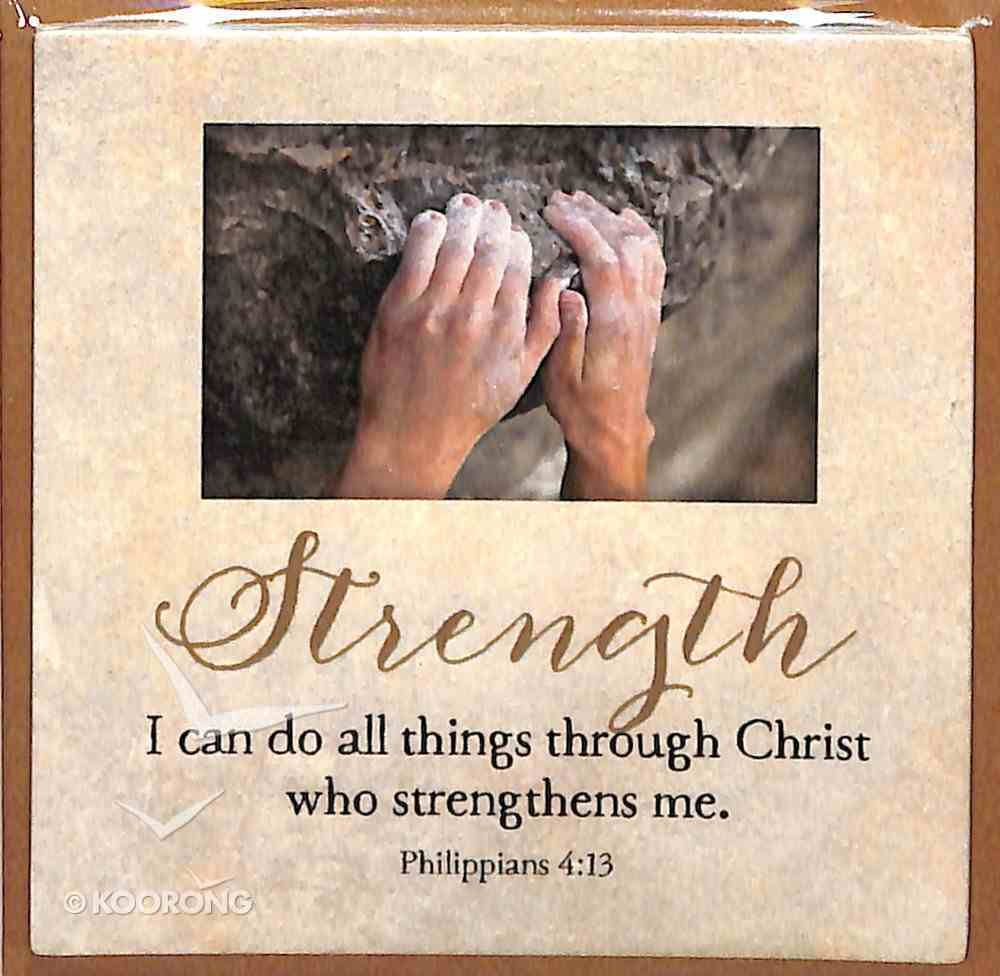 Touching Thoughts Magnet: Strength... I Can Do All Things... (Phil 4:13) Novelty
