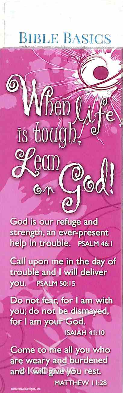 When Life is Tough, Lean on God , Pink/White Flower (10 Pack) (Bible Basics Bookmark Series) Stationery