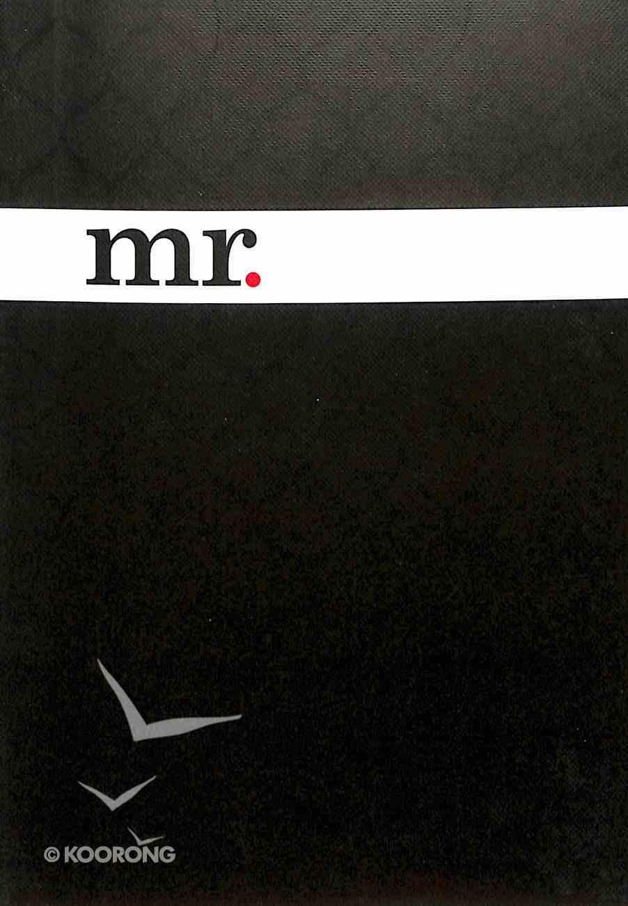 Notebook Journal: Mr. (Black/white) Hardback