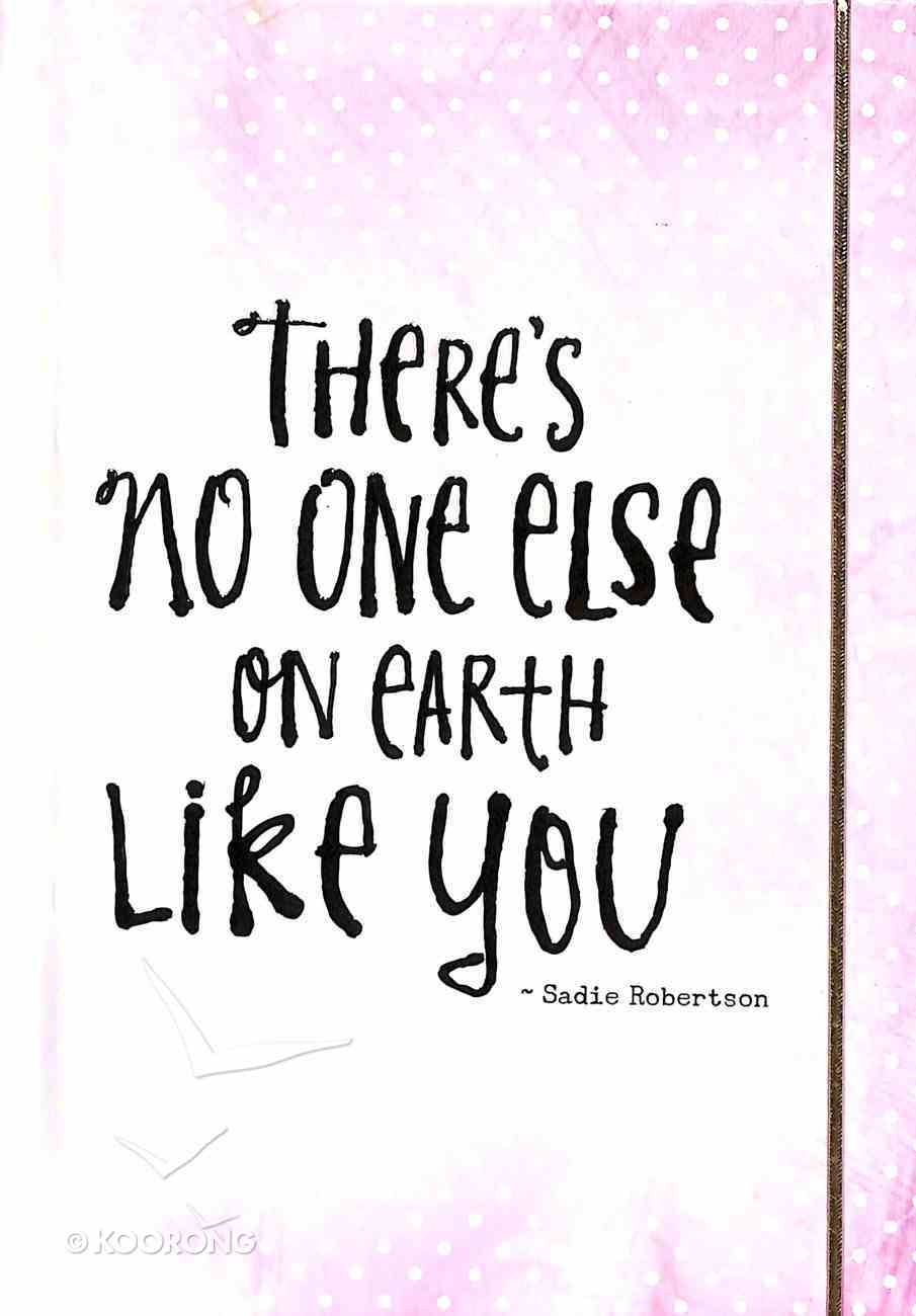 Mini Banded Journal: There's No One Else on Earth Like You (Pale Rose/White) (Sadie Robertson Gift Products Series) Paperback