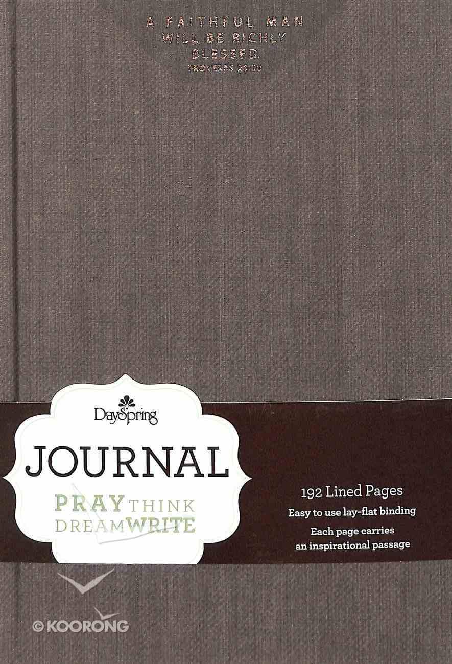 Journal: A Faithful Man (Dark Grey Bookcloth Cover) Hardback