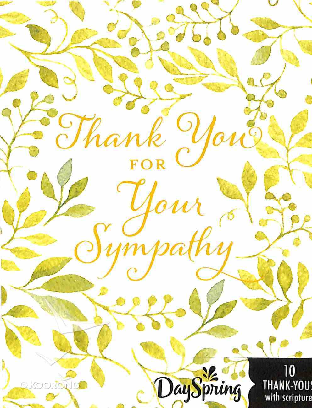 Note Cards Thank You: For Your Sympathy (2 Samuel 2:5 Niv) Stationery