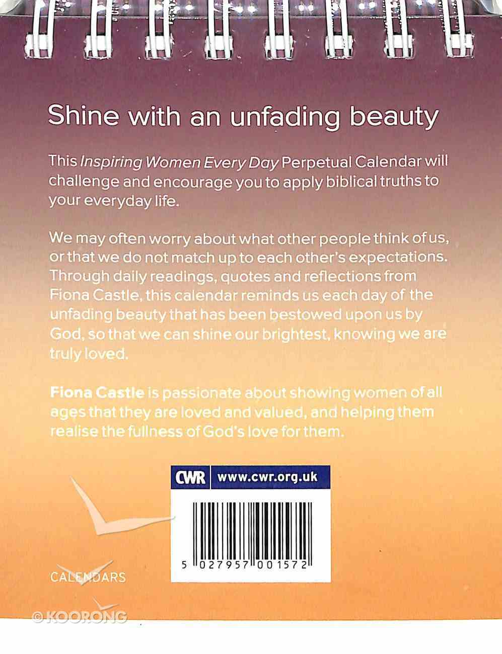Shine: Inspiring Women Every Day Perpetual Calendar Calendar