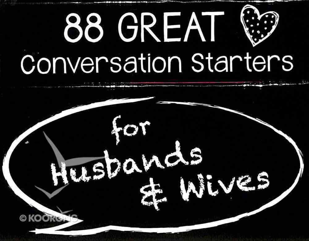 Conversation Starters: For Husbands & Wives Cards Stationery