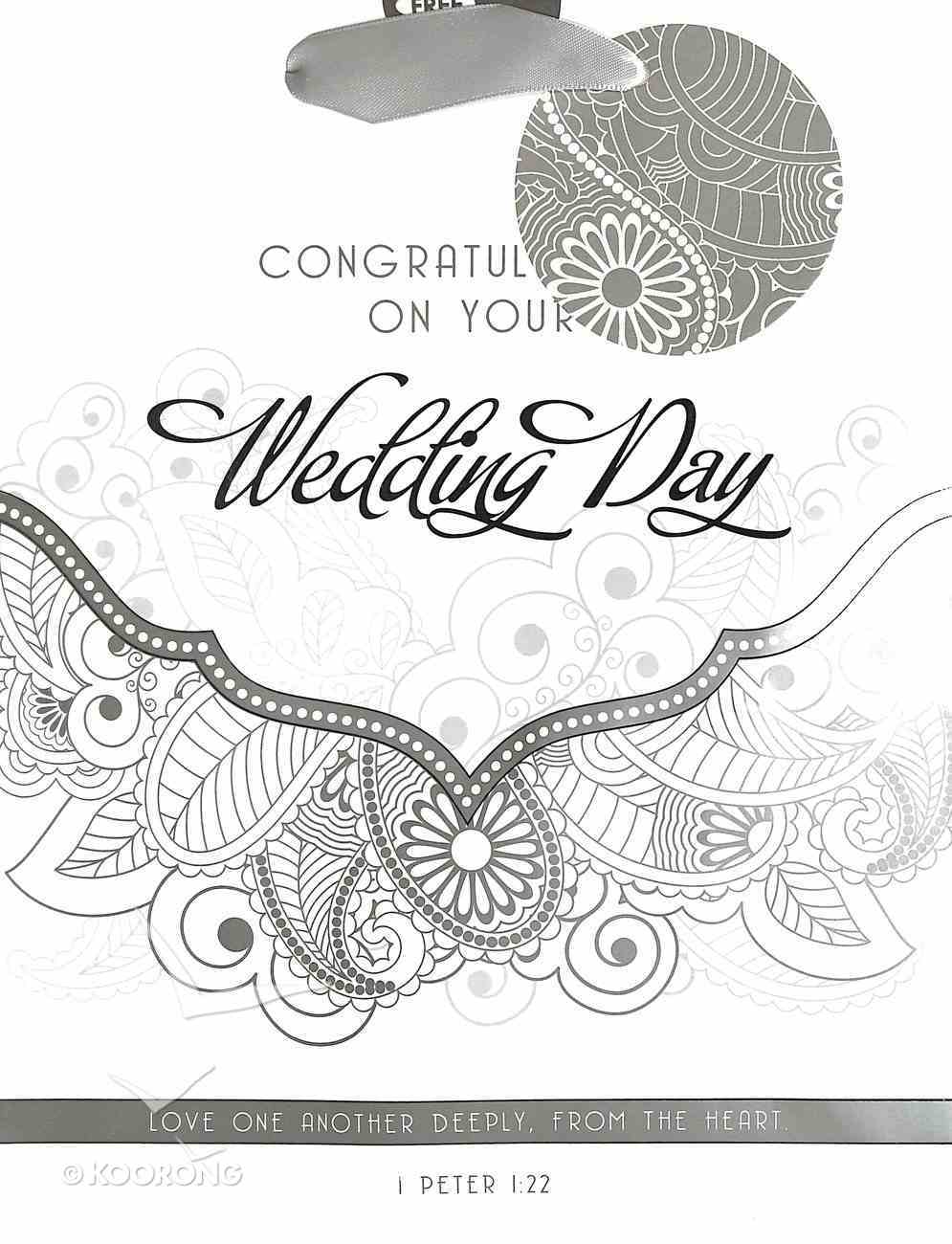Gift Bag Medium: Congratulations on Your Wedding Day Stationery