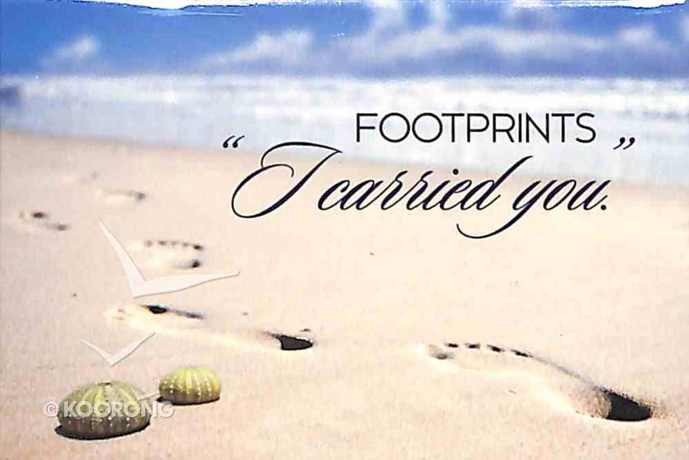 """Magnet With a Message: Footprints """"I Carried You"""" Novelty"""