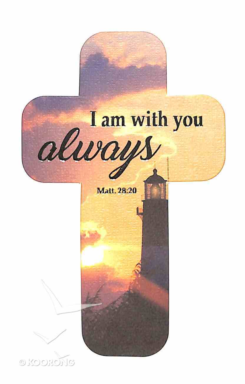 Bookmark Cross-Shaped: I Am With You Always, Lighthouse Stationery