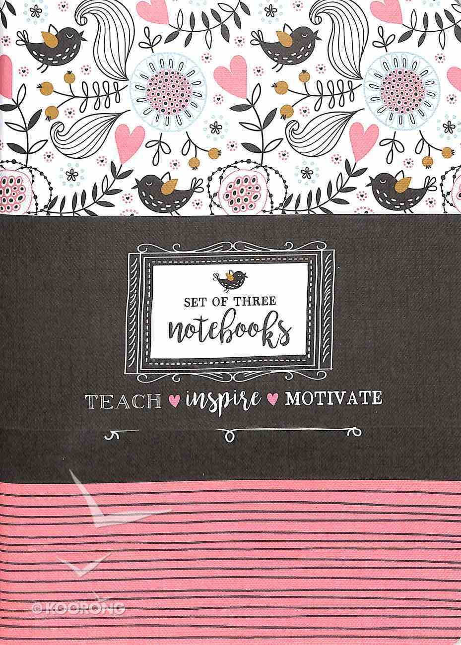 Notebook: Teach, Inspire, Motivate (Set Of 3) Paperback