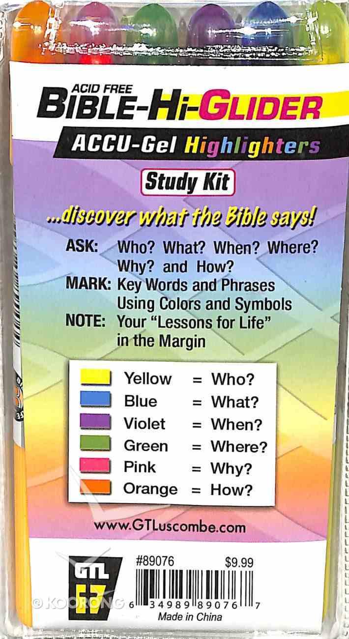 Accu-Gel Bible Hi Glider 6 Piece Study Kit Stationery