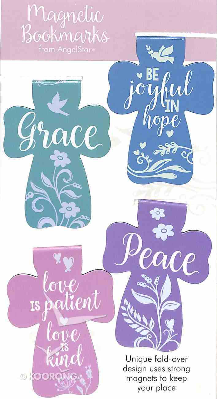 Bookmark Magnetic: Grace, Peace, Love, Joy (Set Of 4) Stationery