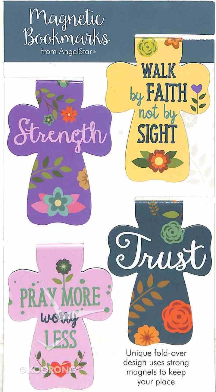 Bookmark Magnetic: Strength, Faith, Pray, Trust (Set Of 4) Stationery