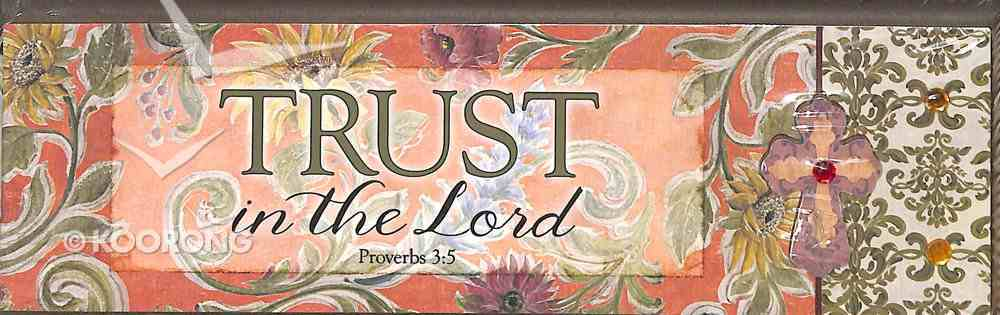 Plaque Simple Harmony: Trust in the Lord (Prov 3:5) Plaque