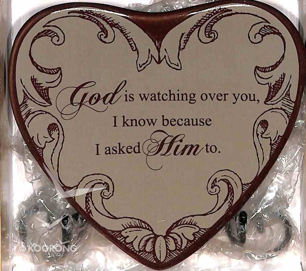 Plaque Heart to Heart: God is Watching Over You... Beige Plaque