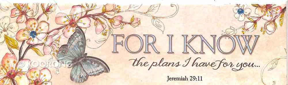 Plaque Simple Harmony: Jeremiah 29:11 - For I Know the Plans I Have For You Plaque