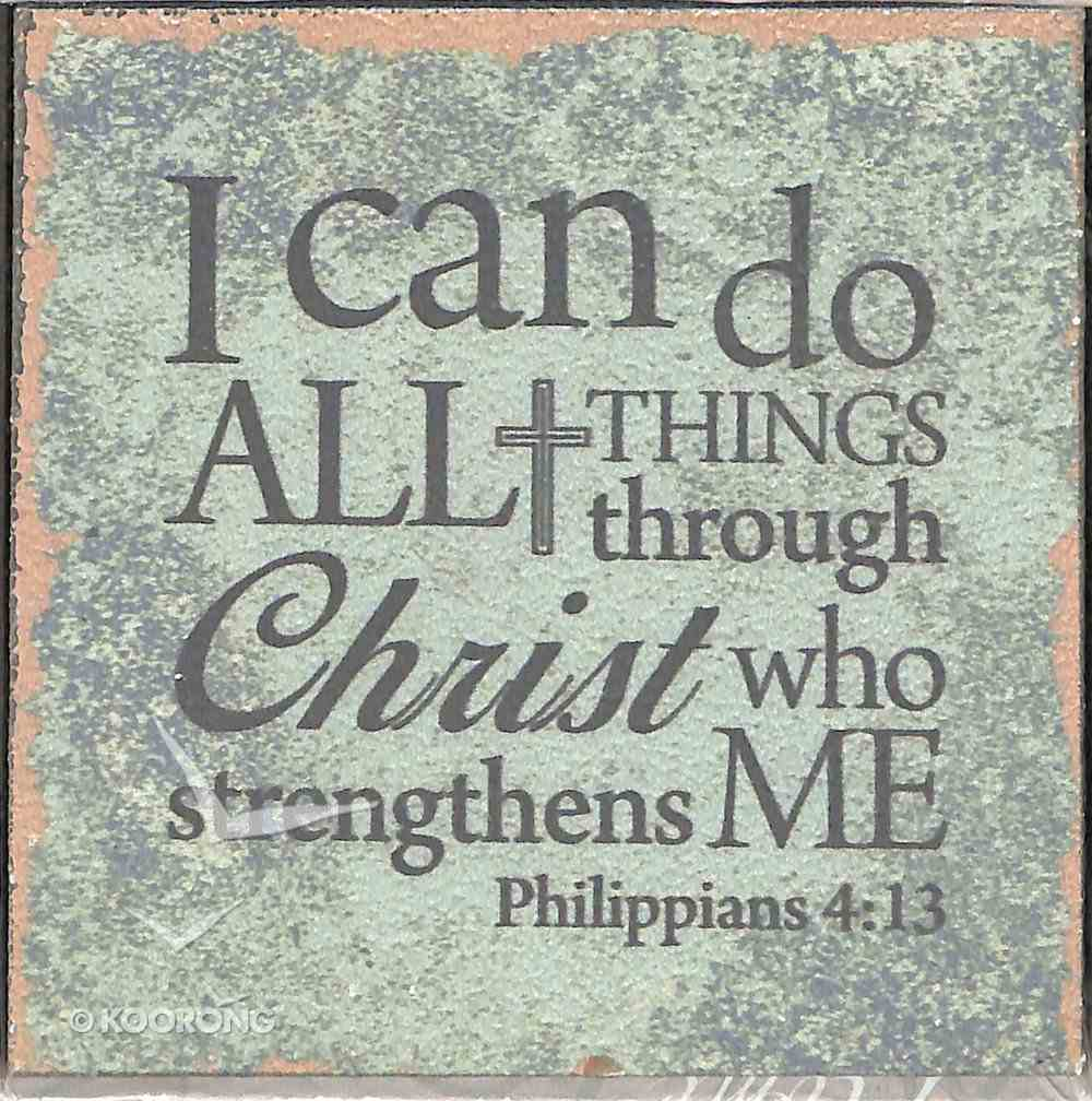 Plaque Tabletop: I Can Do All Things.... (Phil 4:13) Plaque