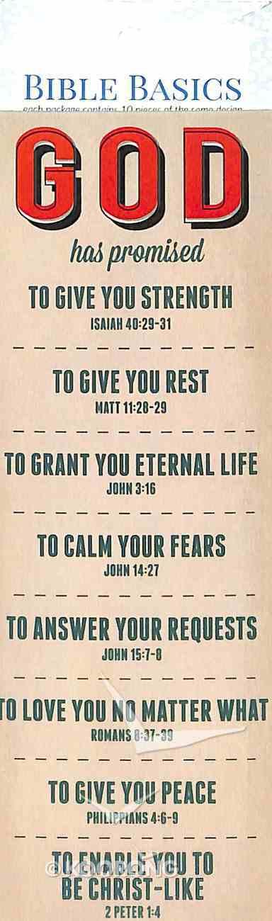 God Has Promised (10 Pack) (Bible Basics Bookmark Series) Stationery