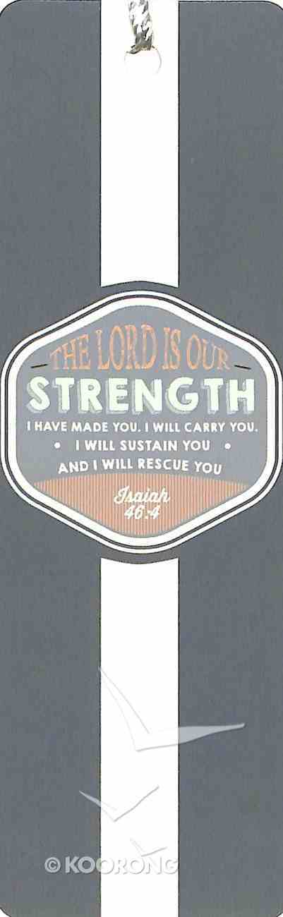Bookmark With Tassel: The Lord is Our Strength Stationery