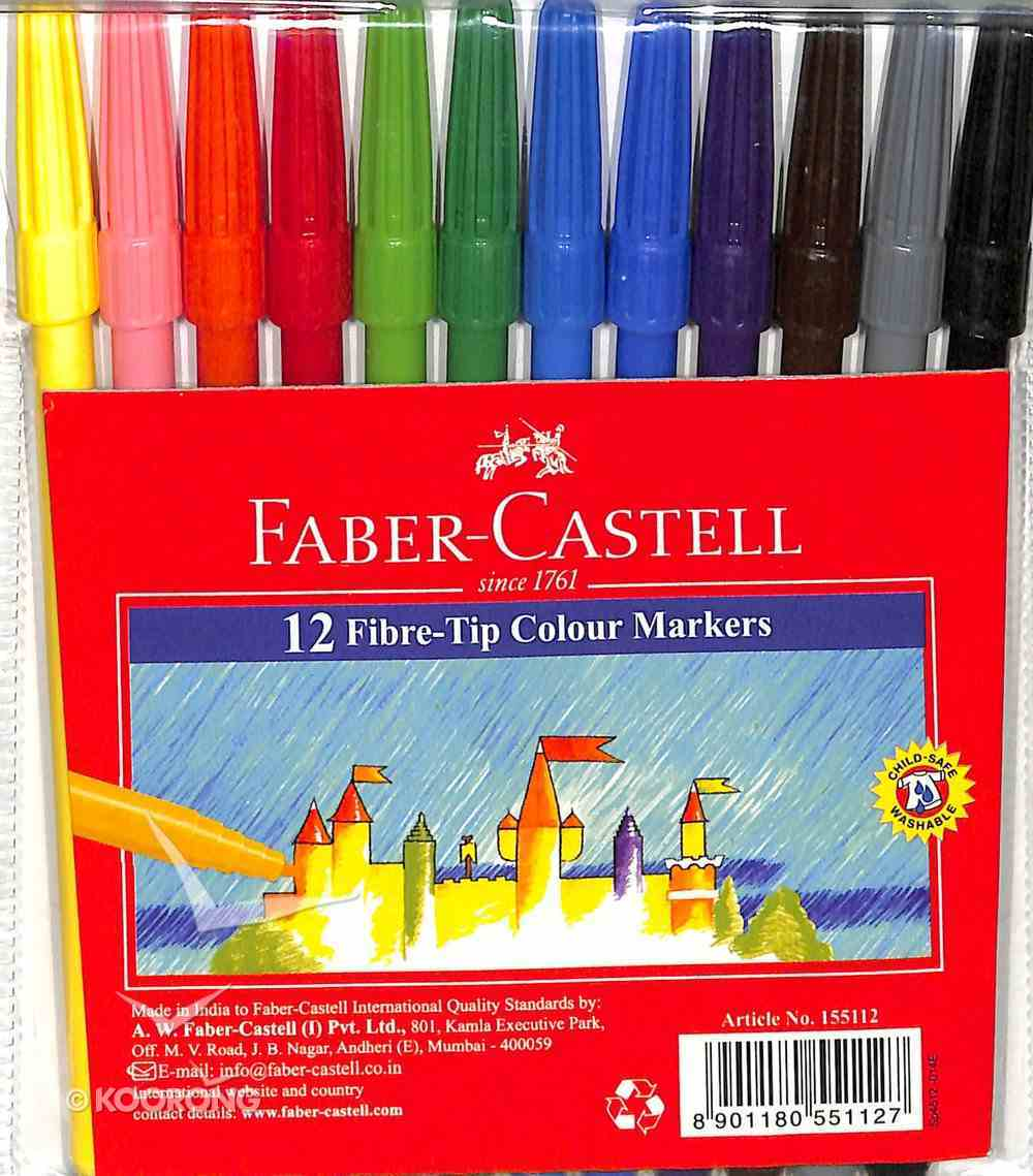Faber-Castell Fibre-Tip Colour Markers Wallet of 12 Stationery