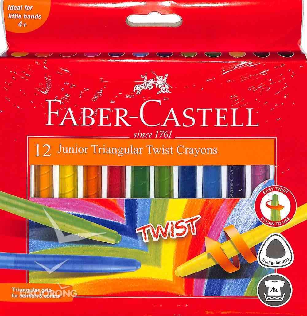 Faber-Castell Junior Traingular Twist Crayon 6mm Box of 12 Stationery