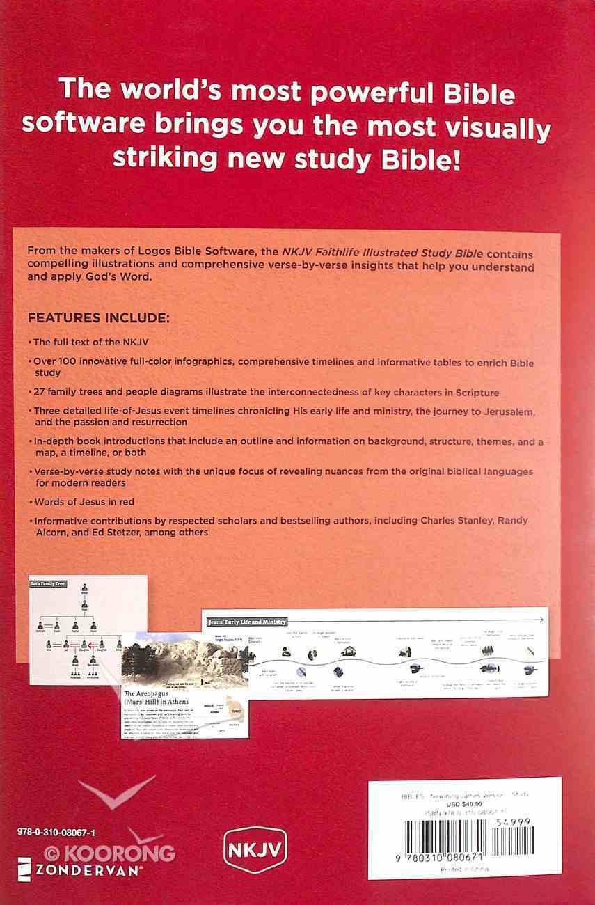 NKJV Faithlife Illustrated Study Bible (Red Letter Edition) Hardback