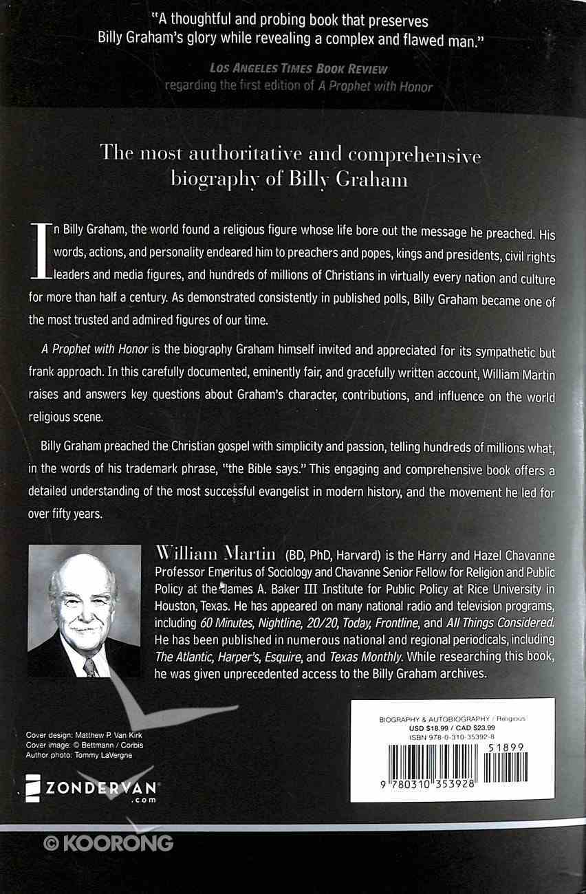 A Prophet With Honor: The Billy Graham Story Paperback