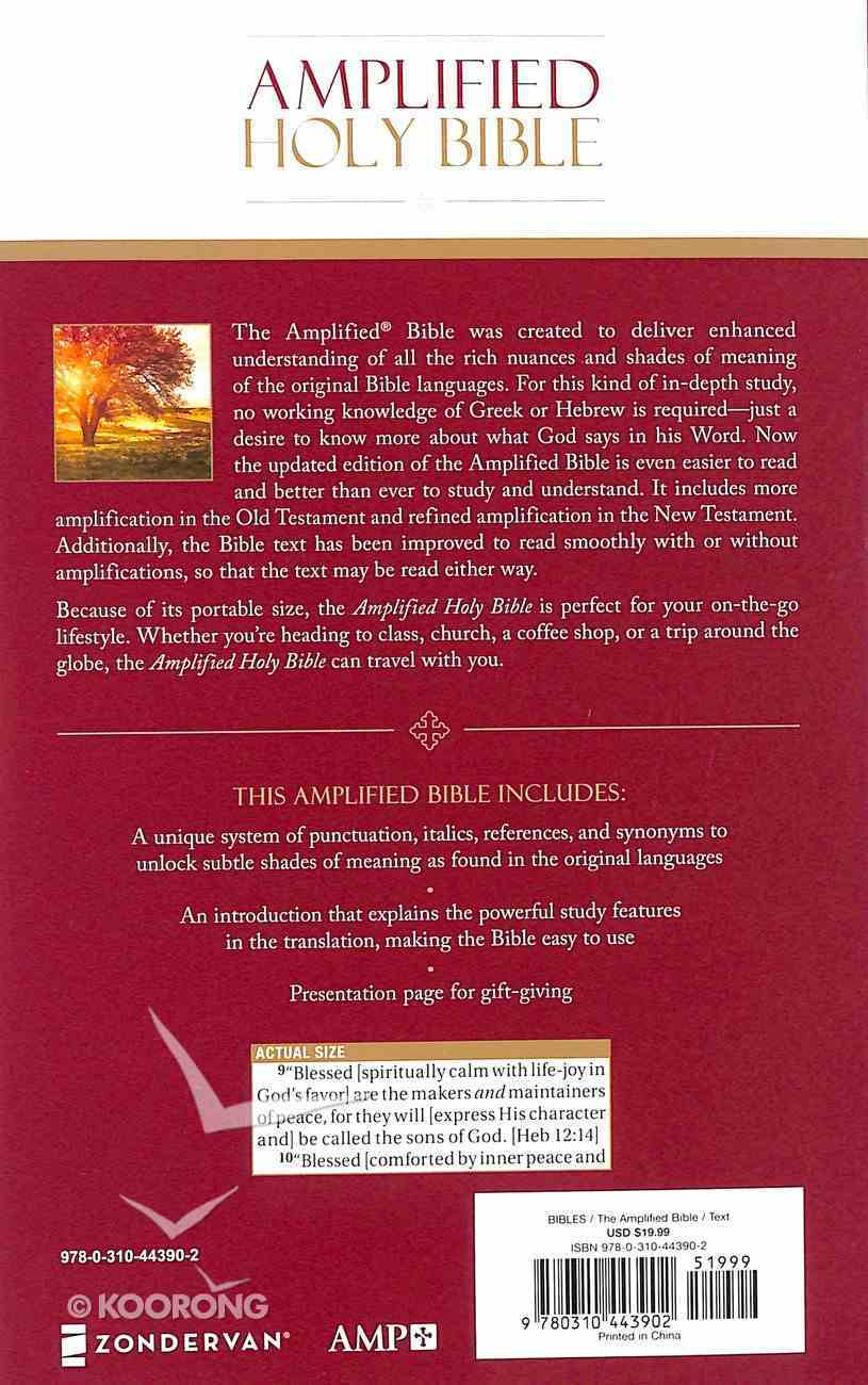 Amplified Holy Bible (Black Letter Edition) Paperback