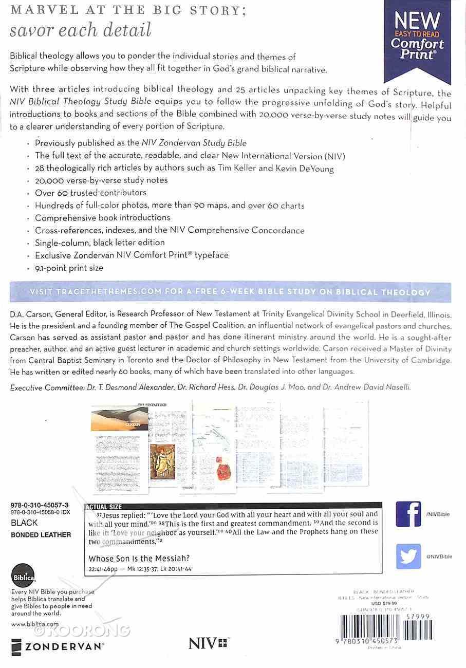 NIV Biblical Theology Study Bible Black (Black Letter Edition) Bonded Leather