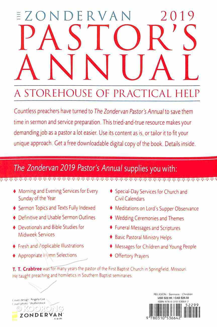 The Zondervan 2019 Pastor's Annual: An Idea and Resource Book Paperback