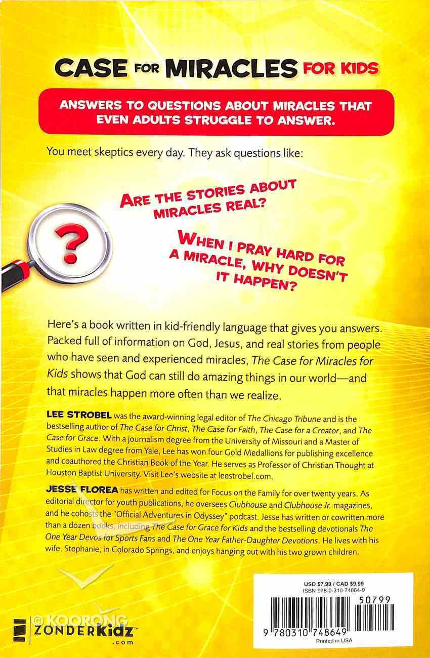 Case For Miracles For Kids Paperback