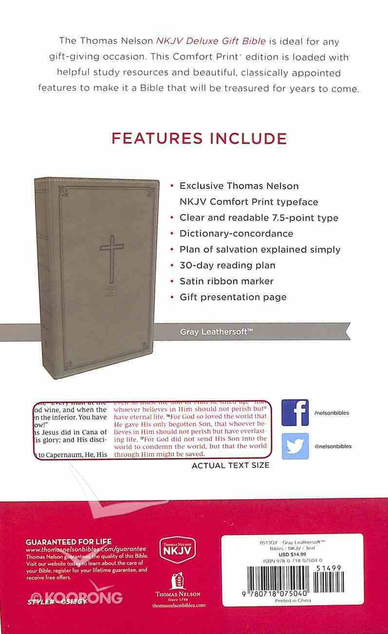 NKJV Deluxe Gift Bible Gray (Red Letter Edition) Premium Imitation Leather