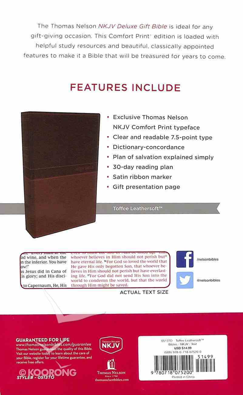 NKJV Deluxe Gift Bible Tan Red Letter Edition Premium Imitation Leather