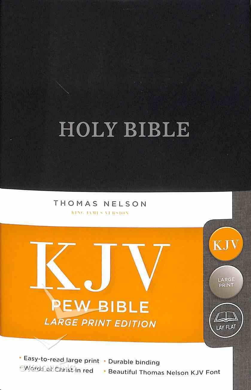 KJV Pew Bible Large Print Blue (Red Letter Edition) Hardback