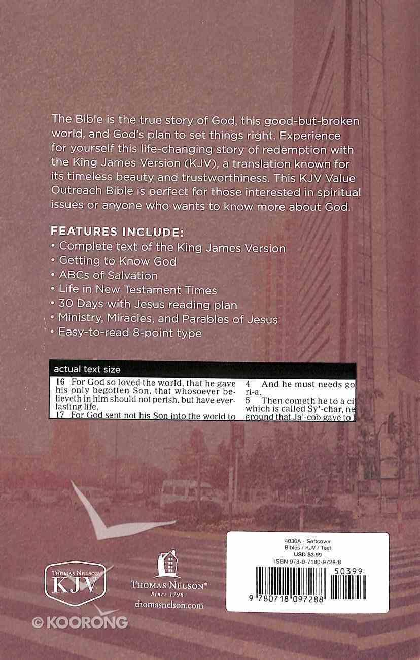 KJV Value Outreach Bible Urban Scenic Paperback