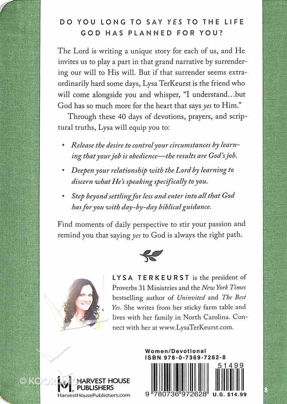 What Happens When Women Say Yes to God Devotional Imitation Leather