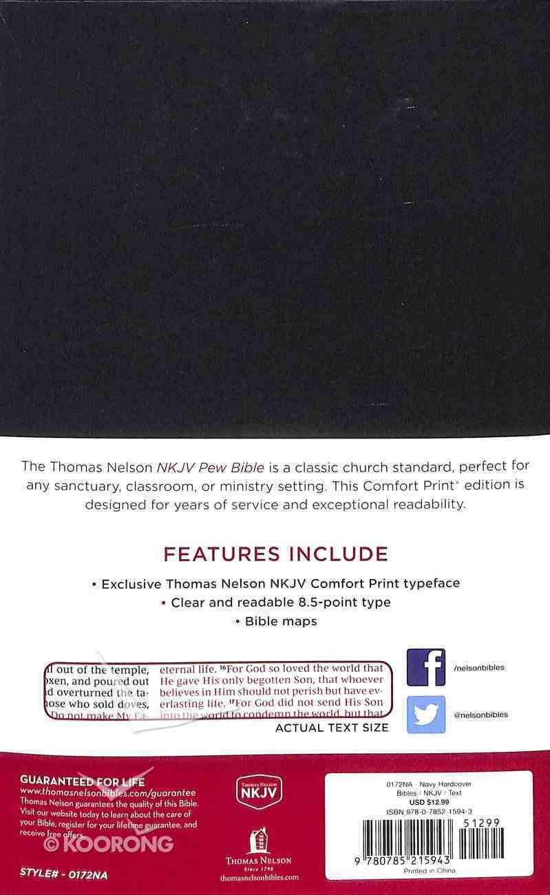 NKJV Pew Bible Blue (Red Letter Edition) Hardback