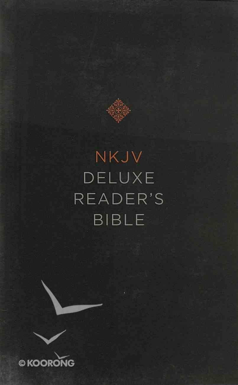 NKJV Deluxe Reader's Bible Yellow/Gray (Black Letter Edition) Hardback
