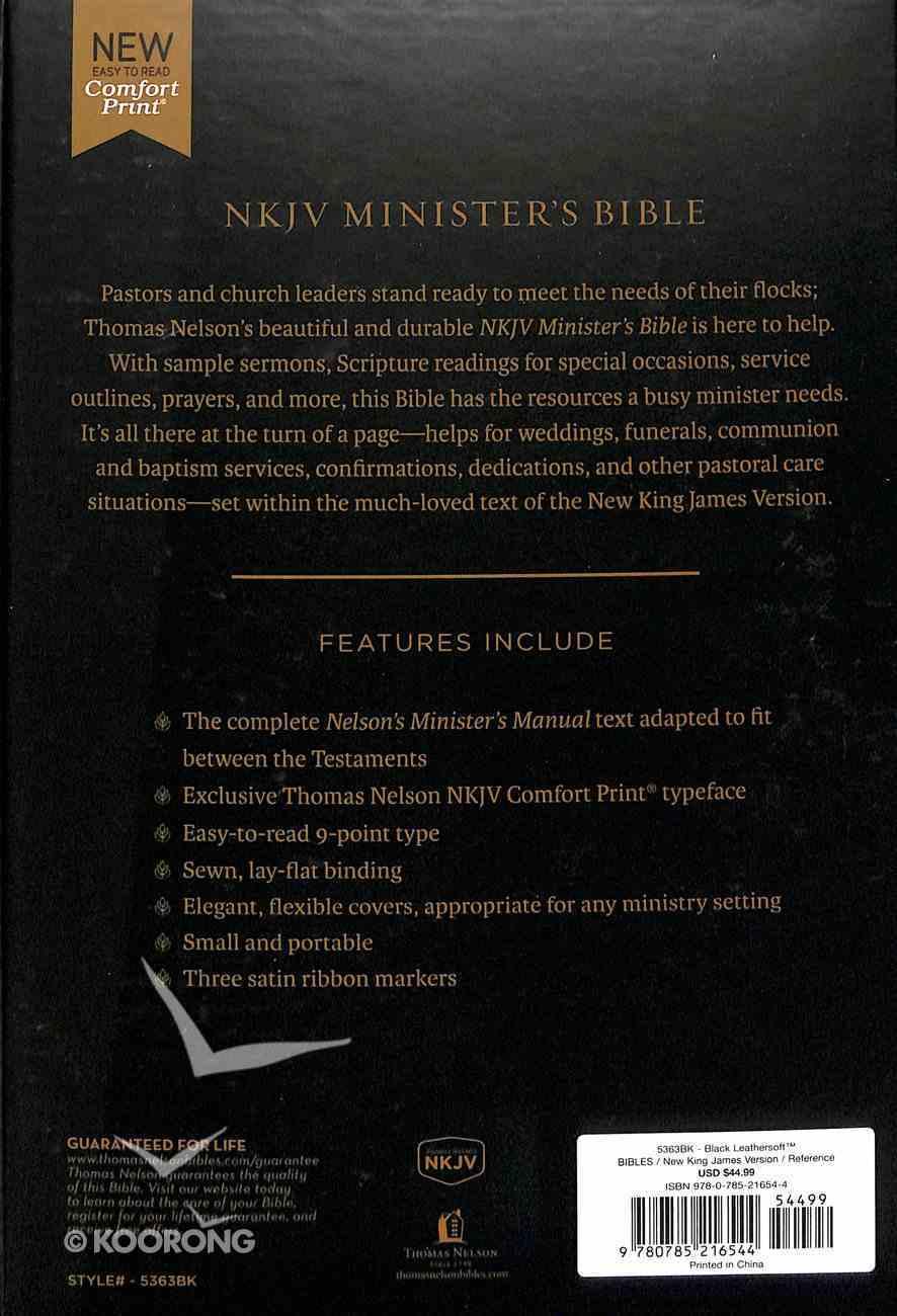 NKJV Minister's Bible Black (Red Letter Edition) Premium Imitation Leather