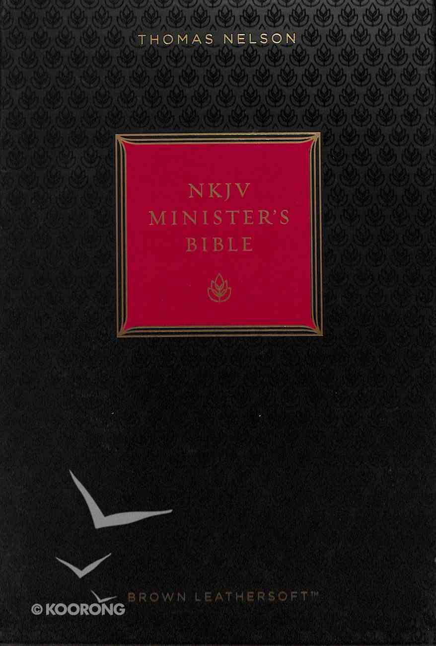 NKJV Minister's Bible Brown (Red Letter Edition) Premium Imitation Leather
