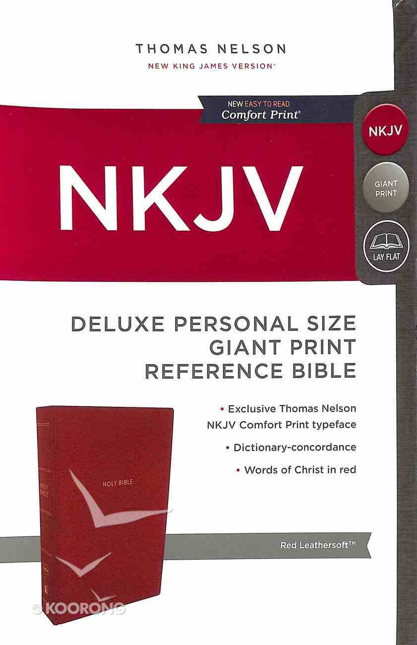 NKJV Deluxe Reference Bible Giant Print Black (Red Letter Edition) Premium Imitation Leather