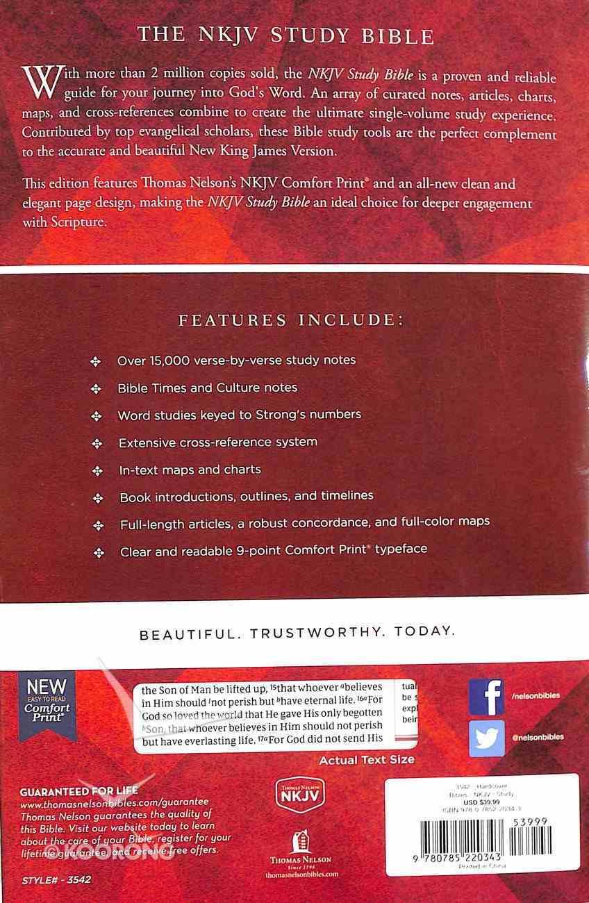 NKJV Study Bible (Black Letter Edition) Hardback