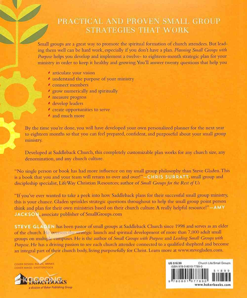 Planning Small Groups With Purpose: A Field-Tested Guide to Design and Grow Your Ministry Paperback