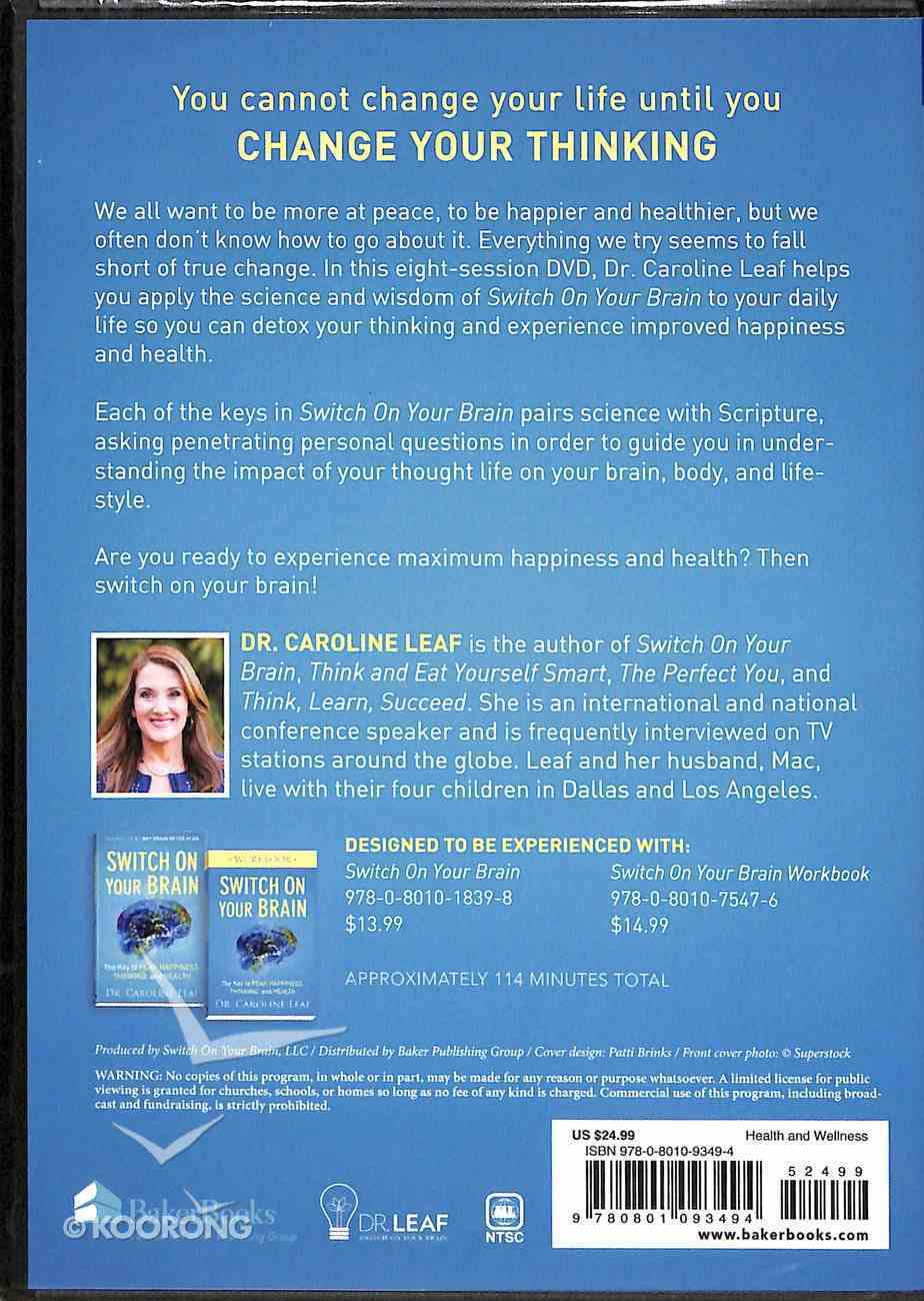 Switch on Your Brain: The Key to Peak Happiness, Thinking, and Health (9 Sessions) (Dvd) Dvd-rom