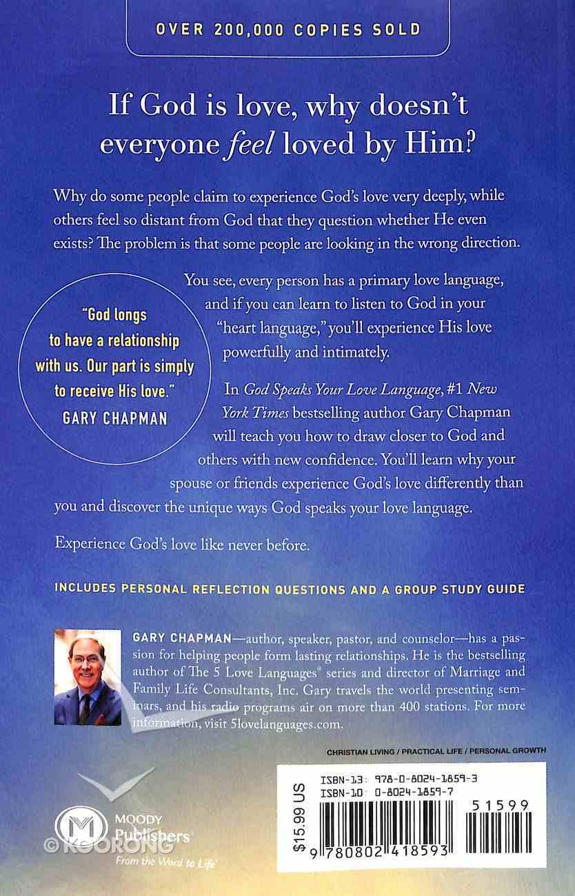 God Speaks Your Love Language: How to Feel and Reflect God's Love Paperback