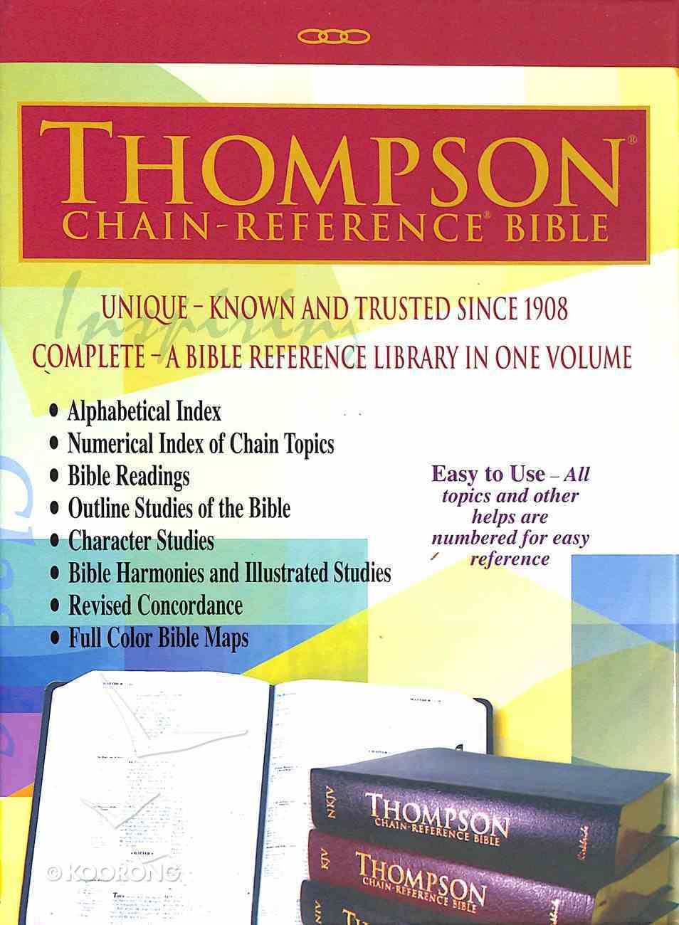 KJV Thompson Chain-Reference Bible Black Handy Size (Red Letter Edition) Genuine Leather