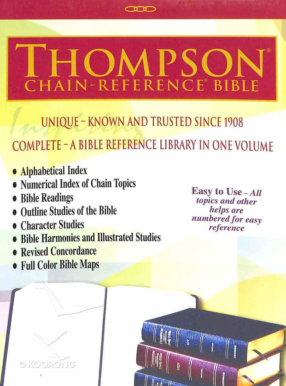 NASB Thompson Chain-Reference Bible Black (Red Letter Edition) (1977 Edition) Bonded Leather