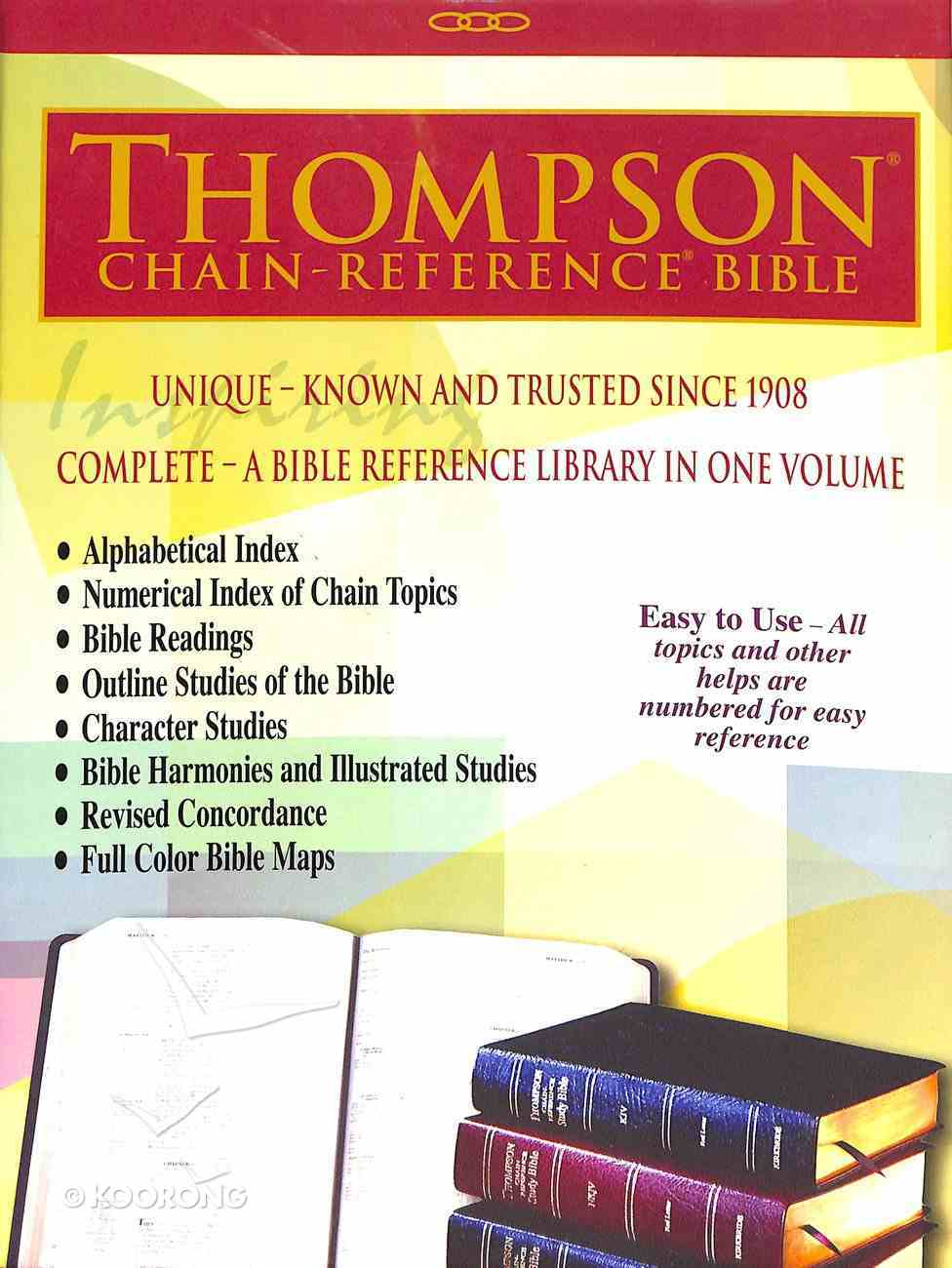 KJV Thompson-Chain Reference Bible Blue Indexed (Red Letter Edition) Bonded Leather